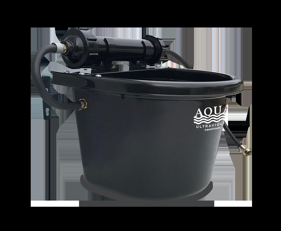 AquaUV_RUFUS_Dog Bowl_Metal_Black